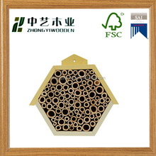 Hot selling handmade high quality garden small wooden bee insect house
