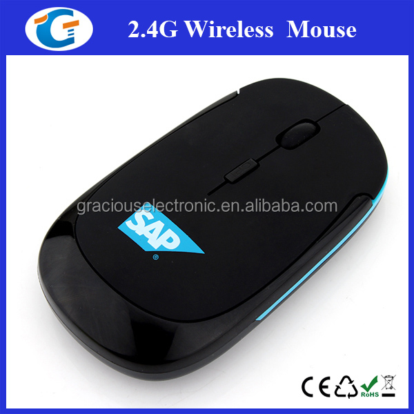 Flat Case Wireless Optical Custom Made Computer Mouse