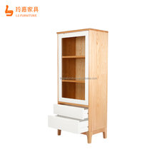 Popular use recently study room chinese style tall solid wood bookcases