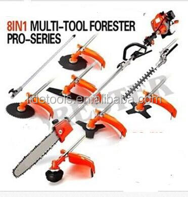 8 in 1 garden Brush Cutter pole pruner edger line trimmer