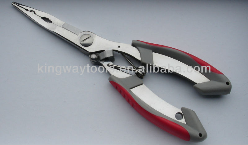 High Grade Stainless Steel Fishing Needle Nose Pliers 165mm