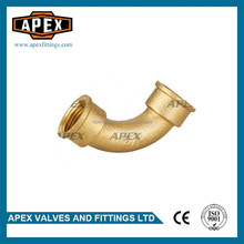 APEX Brass Female Equal Threaded Fitting Long Sweep Bend