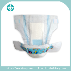 Printed disposable sleepy baby diapers