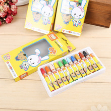 Best quality stationery for kids 12 color washable crayon