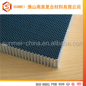 OEM perforated Aluminum honeycomb panel core for lamp grill