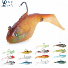 centipede plastic t-tail duck fin shad fishing lure machine injected soft bait