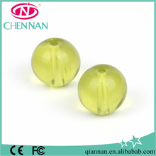 pujiang wholesale round fashion apple green nano spinel beads