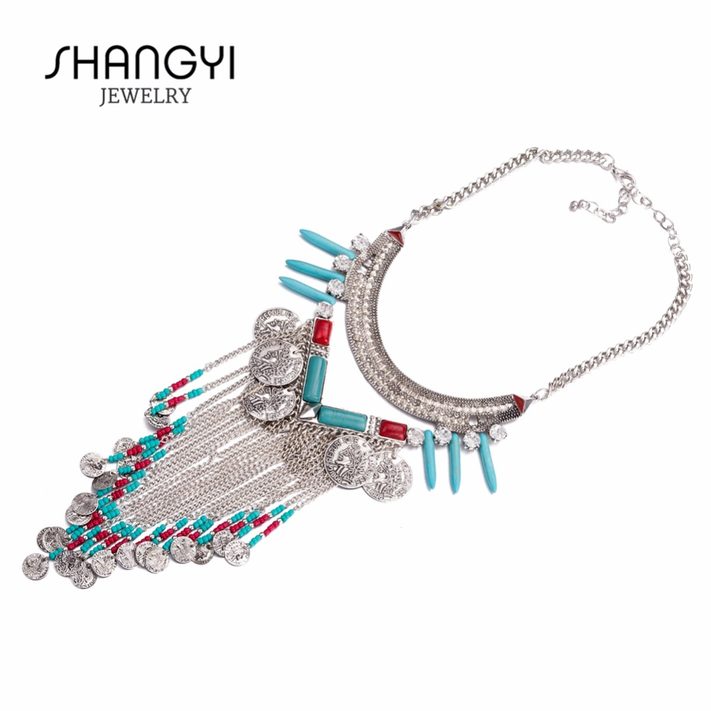 Wholesale Lovely Chunky Hammered Metal Alloy Necklace For Women