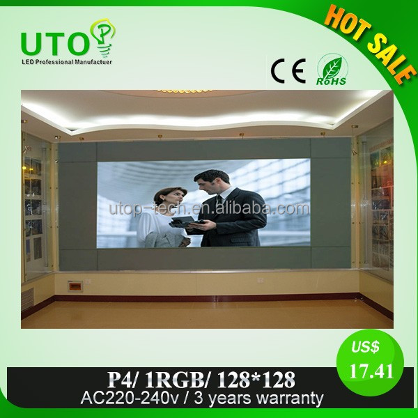 led display full sexy movies video P4 fullcolor outdoor electronic advertising led display screen