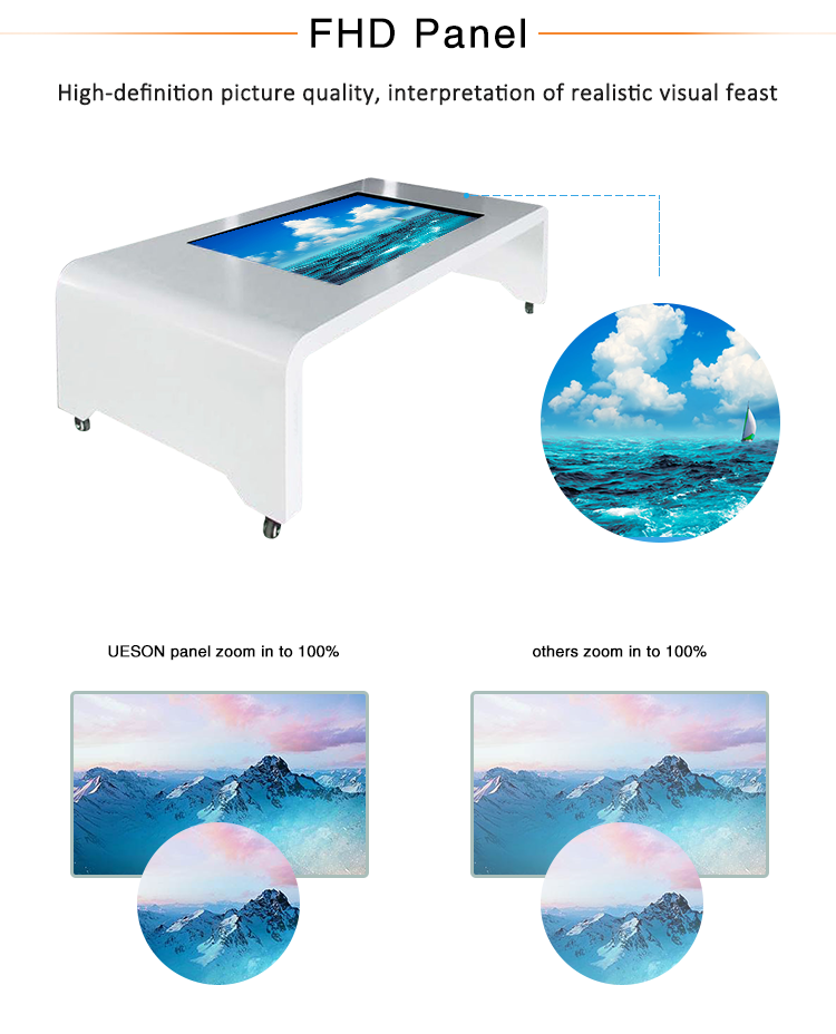 interactive waterproof multi touch screen coffee table
