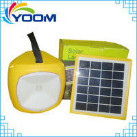 YMC-SL04 Portable multi-function rechargeable home solar lanterns with mobile phone charger camping gas lamp lantern