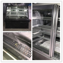 380L Commercial Glass Bakery Cabinet Chiller Showcase Countertop Cooler Cake Refrigerator Used