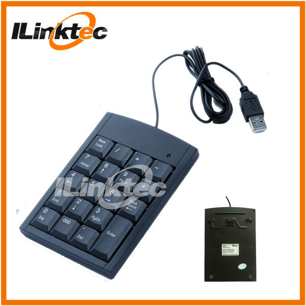 Hot Non-synchronous Numeric Keypad PS2 USB Numeric keyboard with 17 keys