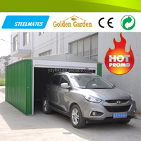 excellently designed popular colorized carport attached prefab house