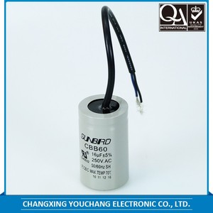 Plastic cover running start capacitor CBB60 4UF 450V/AC