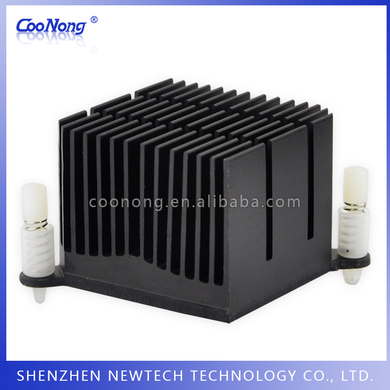 Online shipping small size chip/electronic PC custom extruded heatsink