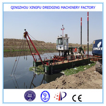 China cutter suction dredger with diesel dredge pump