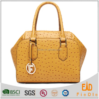 S777-A2985 hot selling ostrich genuine leather bags ladies leather handbag thailand