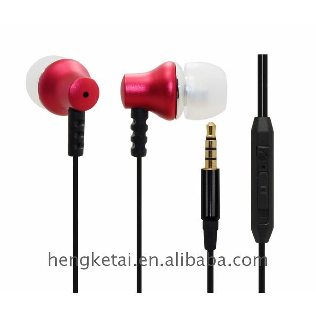 Economic and Reliable stereo metal earbuds with microphone for cellphone smartphone sports travel use