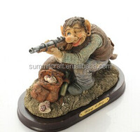 Resin hunting gay leprechaun statues wholesale