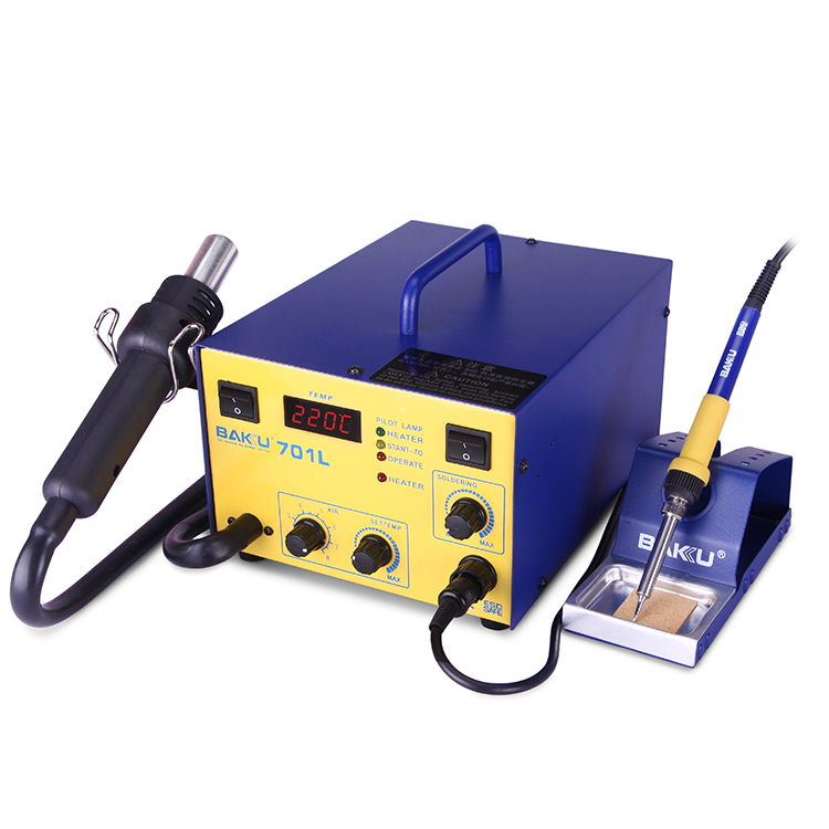 2 in 1 BAKU New Design BK701L Lead-free hot air desoldering SMD Rework Station