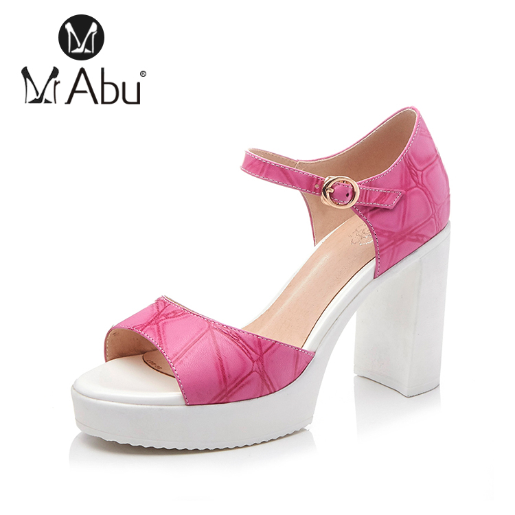 high heels sheep leather pink beautiful girls sandals