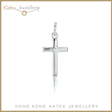 Classic best selling large 925 sterling silver cross zirconia pendant