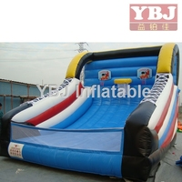 shoe type inflatable football throwing games