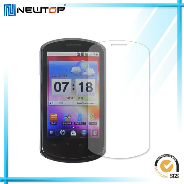 New Style high transparent proof screen protector for HUA WEI U8800 with high quality