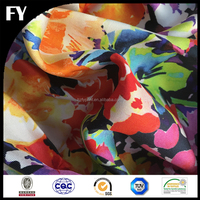 Factory custom new design high quality digital printing silk slub fabric