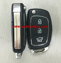 Folding flip remote car key replacement for hyundai ix35 key with 315Mhz and ID46 chip