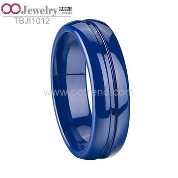 Blue ceramic blank ring for inlay