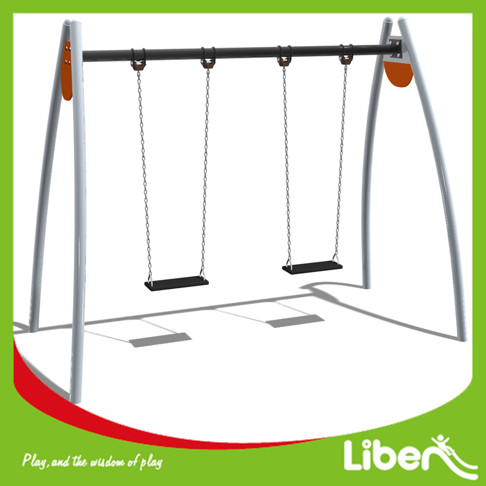 Not Easy to Rust Kids Outdoor Garden Play Swing Set with Rubber Seat