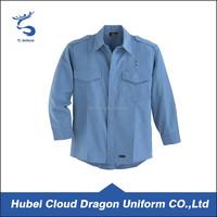 Long Sleeves Blue Shirts Security Guard Dress/ Uniform
