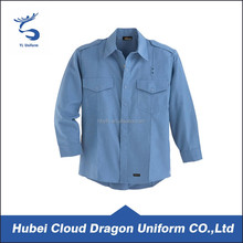Long Sleeves Blue Shirts Security Guard Dress/ Uniform