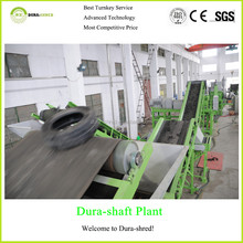 Dura-shred 2015 new generation used tire reclaim rubber recycling machine