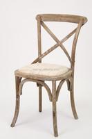 Wooden Antique Cross Back Bistro Chair/Wedding Chair(CH-532-OAK)