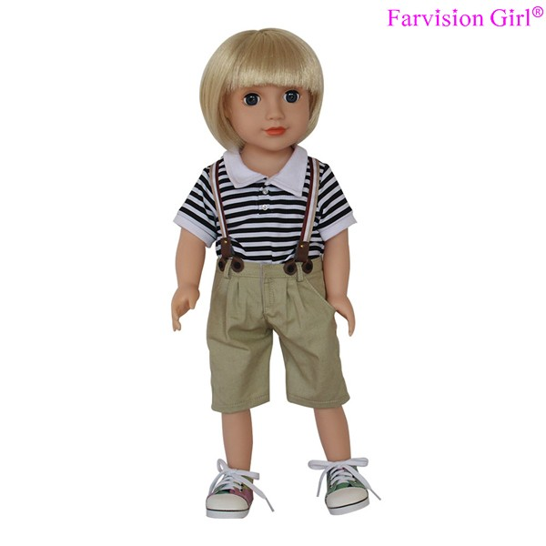 "Short wig hair white doll maker, 18"" vinyl fashion doll maker"