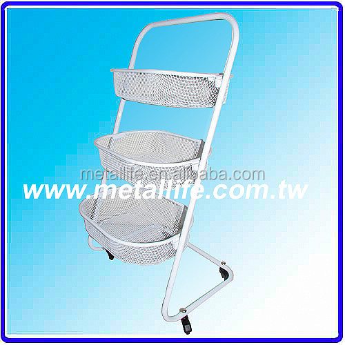 KW-110-3 3 Tiers trolley kitchen design kitchen trolley