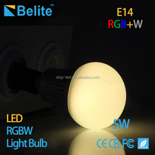 5w smart bulb e14 holder mi light remote control rgbw led bulb