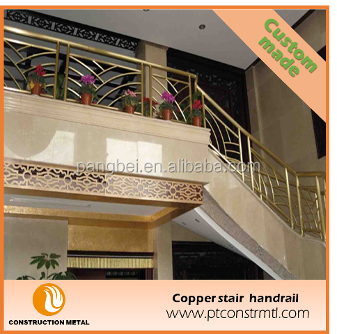 Customized decorative copper railings for indoor and outdoor stairs/porch/deck/bridge