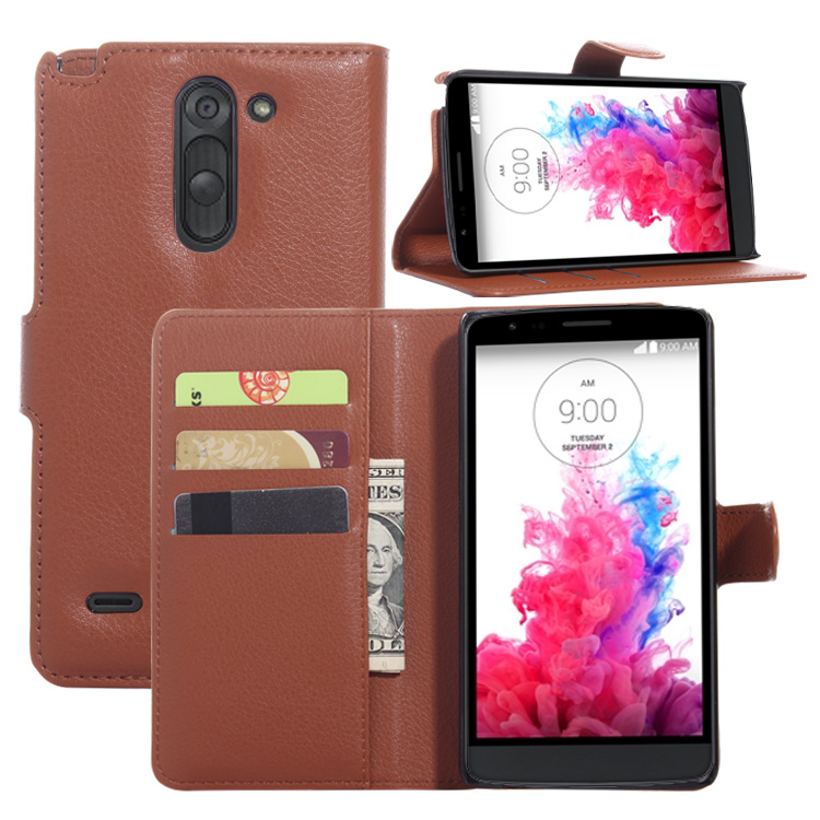 2016 New Wallet Flip Magnetic Card Slots leather back cover case for lg g3 stylus cover