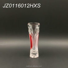 Restaurant table decoration glass vase, wholesale 17cm small cylinder crystal glass vase
