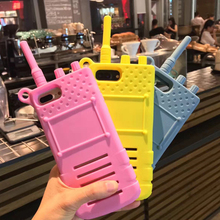 Creative Walkie - talkie silicon phone case for iphone7 plus
