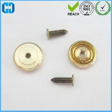 Brass Metal Screw Threaded Back Locking Pin Back