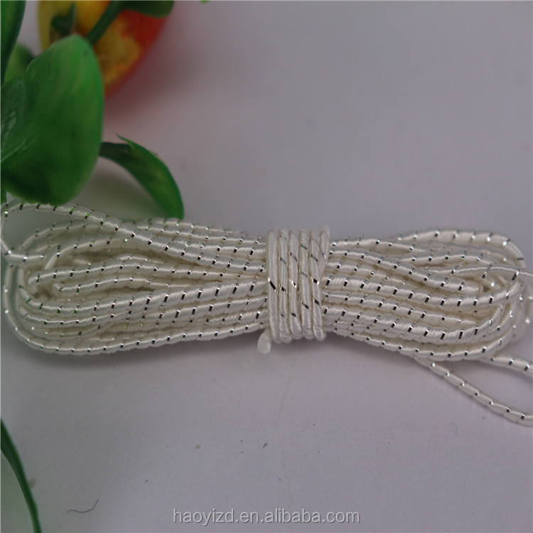 China factory wholesale white sliver dot rope handbag connect hang tag string price