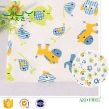 stock healthy interlock cheap custom elephant animal pictures print cotton fabrics for children and babies