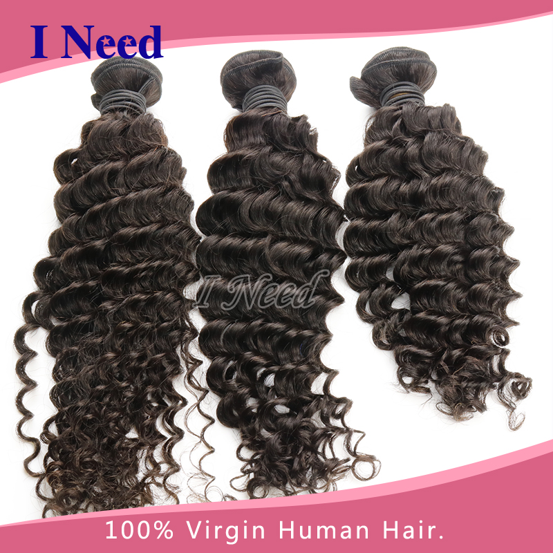 Brazilian Tight Curl Weave Deep Jerry Lace Front Closure Hair