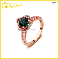 Italy silver wholesale price 925 sterling silver pink gold plating rings