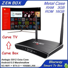 New 2017 TV Box Amlogic Android 6.0 S912 Octa Core RAM 3GB 4GB ROM 32GB 4K TV Box Bluetooth Android 6.0 Marshmallow TV Box